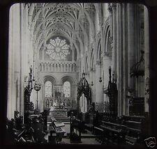 Glass Magic Lantern Slide THE CHAIR CHRIST CHURCH CATHEDRAL OXFORD C1890 ENGLAND
