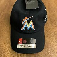 Miami Marlins Under Armour Free Fit Adjustable Baseball Cap Hat Women's