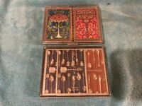 VINTAGE PLAYING CARDS DECK DOUBLE STANCRAFT PLASTIC COATED LOT OF 2