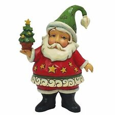Heartwood Creek Jim Shore Mini Santa With Christmas Tree Figurine 9.5cm 4058810