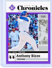 ANTHONY RIZZO 2020 Panini Chronicles PURPLE SP /25 Parallel Card #9 Cubs
