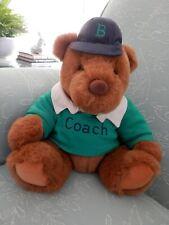 1991 Gund Rugby Plush Bear, Lands End Coach, Limited Edition