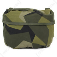 Swedish Army Surplus M90 Camo Large Molle Bag - Shower Resistant, Breathable