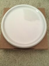 Longaberger Lid Ivory Pottery Candle Coaster Fits One Pint Salt Crock 31128 New