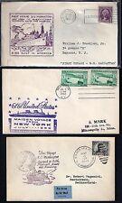 US 1932 52 THREE SHIP FIRST VOYAGE COVERS USS NEW YORK USS MANHATTAN USS WASHING