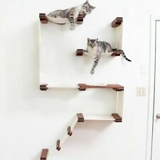 Cat Hammock Wall Mounted Scratching Wood Tree House Pet Furniture Play Houses