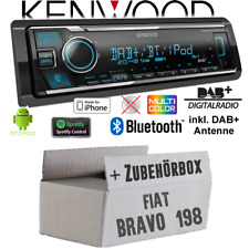 Kenwood Radio für Fiat Bravo 198 DAB Bluetooth iPhone/ Android Spotify Einbauset