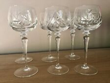 More details for stunning vintage set of 6 hand cut parad lead crystal champagne glasses