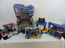 Fisher Price Imaginext Batman superman HUGE Lot Batcave,Jail,Vehicles + Figure