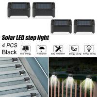 4PCS Solar LED Deck Lights Pathway Stairs Step Garden Landscape Fence Lamp