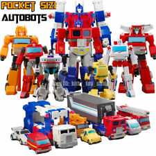 Pocket Size Small Scale Cartoon Autobots Action Figures Optimus Prime Magnus