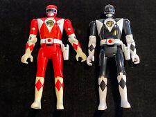 Vintage Mighty Morphin Power Rangers Flip Head Figures Red & Black Rangers 1993