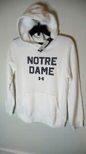 Under Armour Notre Dame Fighting Irish youth YMD medium hoodie hood sweatshirt