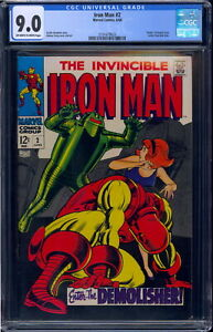 Iron Man #2 CGC 9.0 Off-W/White Pages 2101679023 Death of Drexel Cord High Grade