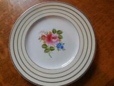 """Wedgwood floral and silver lustre 8 3/4"""" bone china luncheon plate W3079"""