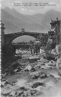 Cartolina - Postcard - ponte e fiume  - Poesia Stecchetti - 1933