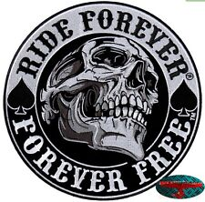 RIDE PER SEMPRE TESCHIO Patch Toppa Chopper Biker Moto Rocker Harley