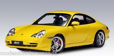2001 PORSCHE 911 CARRERA COUPE FACELIFT (996) (AUTOART 1/18) Yellow NEW IN BOX