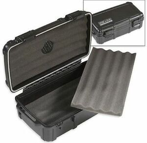 Herf A Dor X10 Black Cigar Caddy Humidor Waterproof Holder Case Humi Care - NEW