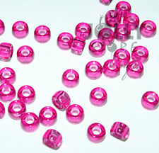 Translucent Fuchsia 7x4mm mini Pony Beads 1000pc USA for crafts school kid