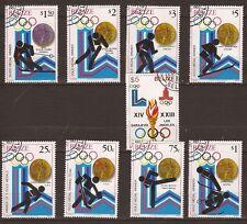 164 BELIZE Serie A 65  9 timbres oblitérés 1980: Les medailles d'or aux J.O