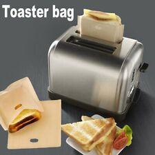 5pcs Useful Toaster Bags Grilled Cheese Sandwiches Reusable Non-stick Bread Bags