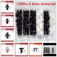 Plastic 150Pcs 6 Sizes Car Automotive Push Pin Rivet Body Trim Clip Panel W/ Box