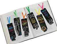 Pack of 12 - Chalkboard Safari Animal Design Bookmarks - Party Bag Fillers