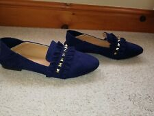 Ladies Navy Miss Sophia Shoes Size 39 Uk 6 Tried on Never Worn New