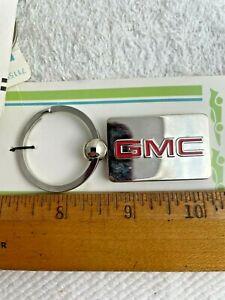 GMC Yukon Envoy Canyon Sierra Terrain Acadia Key Chain Keychain Metal Silver Red
