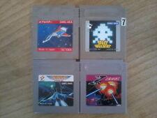 Lot SHMUP - Aero Star / Nemesis / X / Space Invaders - Game Boy - Japan Nintendo