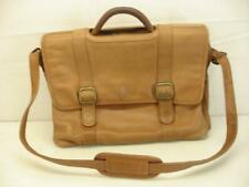 Mens Avenues In Leather Brown Leather Briefcase Organizer Shoulder Strap Attache