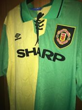 Retro Manchester United 1992-94 XL Shirt Newton Heath Man Utd Jersey CANTONA