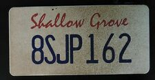 Scream The TV Show Genuine Production Used Prop Licence Plate Shallow Grove