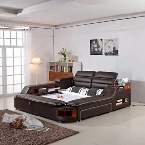 Quality Smart  Multi functional High luxury Modern Massage Bed Italian Leather.
