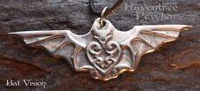Bat Vision - Pewter Pendant - Animal Totem Nature Jewelry, Insight, Vision