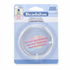 Beadalon German Style ROUND Silver Craft Wire  7 colors