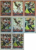 Houston Texans 8 card 2012 Topps Chrome REFRACTOR/XFRACTOR lot-all different