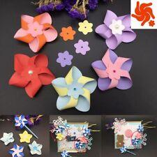 New 3D Flower Windmill Pinwheel Metal Cutting Die Scrapbooking Embossing Stencil