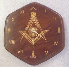 Masonic Solid Cherry Clock