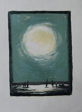 Anders LIDEN-Lithographie originale signée-Soleil blanc sur les sapins