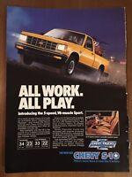 1983 Introducing Chevy S-10 Sport Advertisement Original Vintage Magazine Print