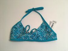 Old Navy Girls Turquoise Swim Suit Top Sz SM Cute w shorts your own bottoms NWT