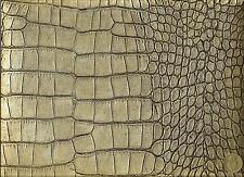Silver and Black Animal Print Alligator Crocodile Heavy Vinyl Upholstery Fabric