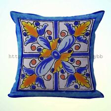 Us Seller-talavera Mexican Spanish cushion cover decorative throw pillow cover