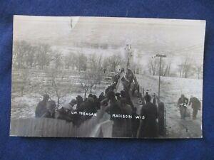RP Madison Wisconsin University Tobagan Run Winter Sports 1911 Postcard
