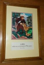 """FRANCIS OF ASSISI FRAMED Picture """" LORD MAKE ME AN INSTRUMENT OF YOUR PEACE """""""