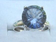 Gems TV Solitaire Natural Sterling Silver Fine Rings