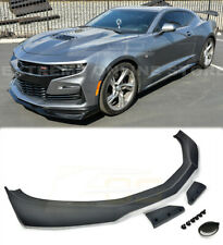 For 19-Up Camaro SS ZL1 1LE Style PRIMER BLACK Front Bumper Lip Splitter ABS