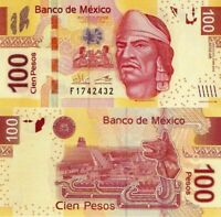 MÉXICO 100 Pesos, 2014, Series AR, Nezahualcoyotl, UNC